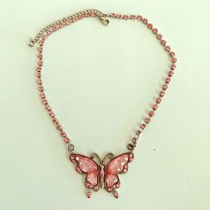 Jewelry - *Pink Butterfly Necklace